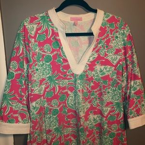 """Lilly Pulitzer Dress in """"Scorpion Bowl"""" print."""